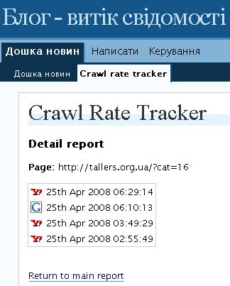 аналізатор відвідувань пошукових систем