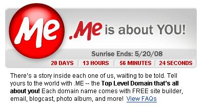 реєстрація доменів у зоні .ME