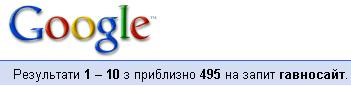 Гавносайт - результат у Гуглі