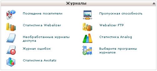 Журнальні файли доступу на сайт