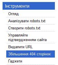 Error 404 від Google